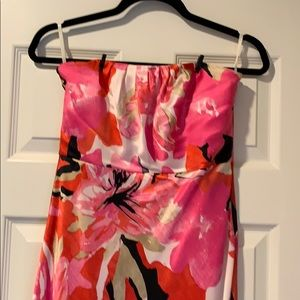 Banana Republic Strapless Satin Lined Dress